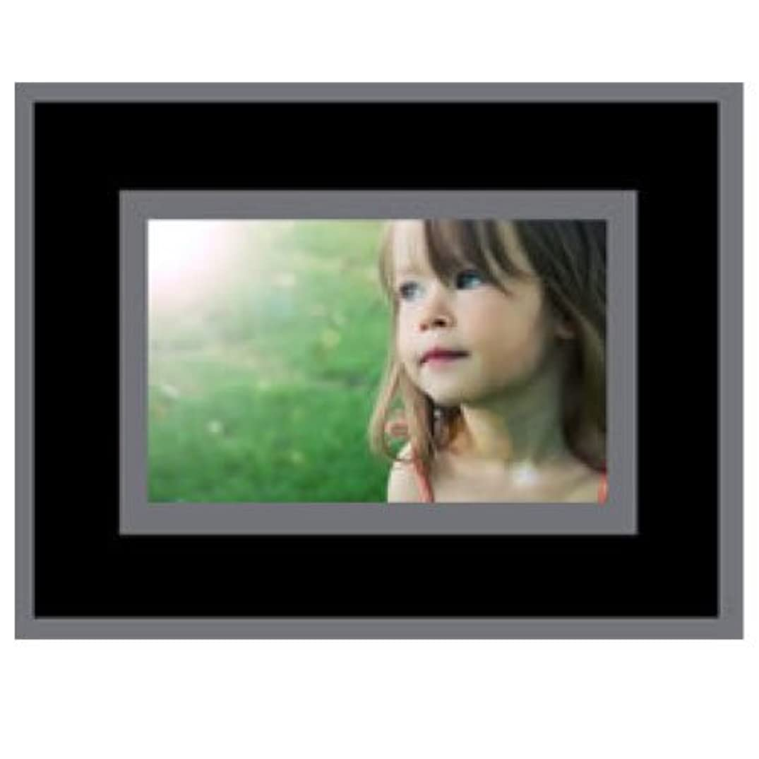 6x4 Party Photo Cardboard Easel Frames - BLACK & GRAY - Pack of 20