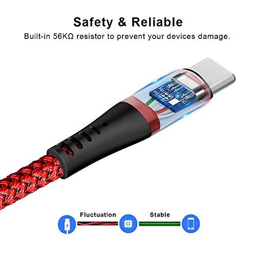 TITACUTE für OnePlus 8 Pro Kabel, 2 Pack OnePlus Ladekabel 1,8m/ 6ft Warp Charge Kabel Typ C Dash Ladegerät Kabel USB C Schnellladekabel Kompatibel mit OnePlus Nord/ Buds/ 8 7T 7 Pro 6T 6 5T 5 3T 3