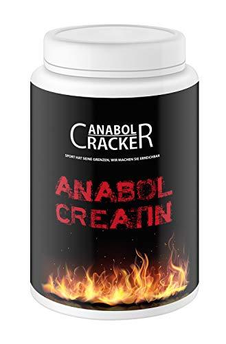 Anabol Creatin, 500g Dose, Kreatin Monohydrat Pulver Rein + Hochdosiert, mit Taurin und Saponine, Muskelaufbau Booster aus Deutschland