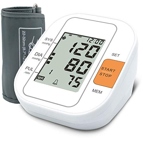 TaoQi Upper Arm Blood Pressure Monitor Upper Arm, Digital BP Machine for Home Use, 2 Users, 99 Sets Measuring Records Memory, Irregular Heart Rate Indicate, Pulse Rate Monitoring Meter