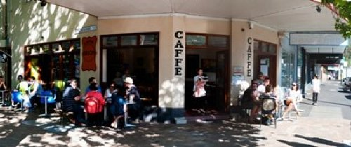 The Poster Corp Panoramic Images – Cafe on Oxford Street next to Paddington Uniting Church Sydney New South Wales Australia Photo Print (76,20 x 33,02 cm)
