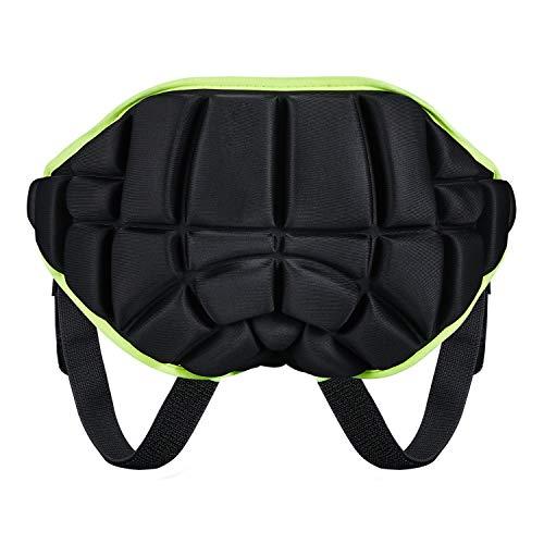 KUYOU 3D Padded Protection Hip, Kids Protective Hip Pad Shorts Anti-Slip Adjustable Lightweight Children Butt Pad Pants for Ski Skate Snowboard Roller Skating Hockey Soccer Black