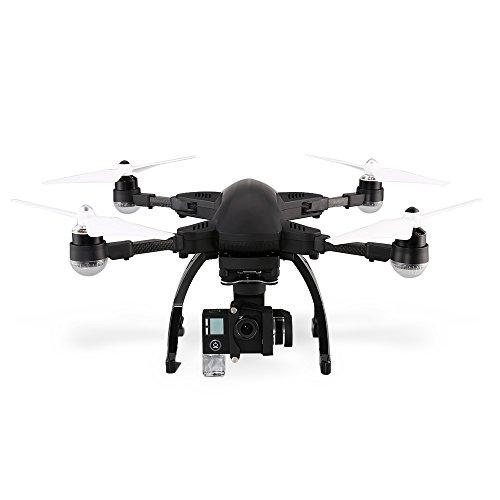 WSWRJY Mini Control Remoto RC Drone/Simtoo Dragonfly Drone Pro Versión Mejorada 2017 Nueva Cámara Plegable Siguiente Abejón Rtf WiFi FPV con 16Mp Cámara 4K Reloj GPS, Negro