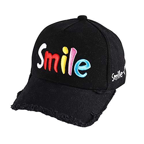 Sombreros para niños Primavera y Verano Nueva versión Coreana de Las Letras Bordadas Gorra de béisbol de Tendencia de Borde en Bruto Sombrero de bebé Protector Solar