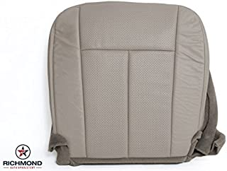 Richmond Auto Upholstery Compatible With 2010 Ford Expedition XLT -Driver Side Bottom Perforated Replacement Leather Seat Cover, Gray