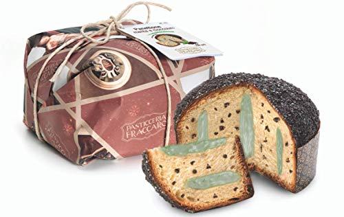 Panettone Artigianale Menta e Cioccolato di Pasticceria Fraccaro, Senza Canditi e Uvetta, Prodotto dolciario da forno a lievitazione naturale (Incarto artigianale) - 750 grr