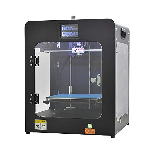 HUAFAST 3D Printer HS-Mini S High Resolution Enclosed Industrial Large Size 200x200x200mm Build Area Support 1.75mm PLA ABS PETG Wood TPU Flexible Filament for School Education Family Maker DIY Liker