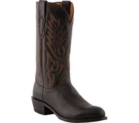 Lucchese M1002 R4 Rounded Cowboy Chocolate