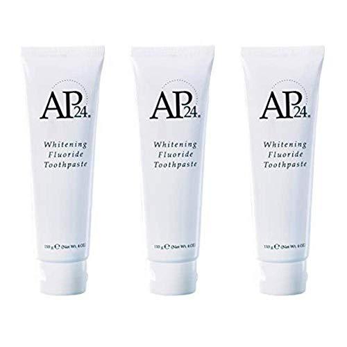 Nu Piel AP 24 Blanqueamiento flúor pasta de dientes, paquete de 3 X 110 gr