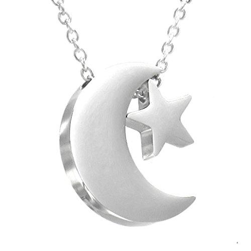 TEMPUS FUGIT. Collar/Gargantilla/Colgante con Cadena Luna Enamorada. D