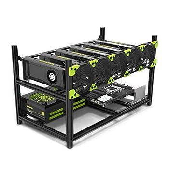 SHA256 - Mining Rig Frame - Veddha V3C Stackable 6-GPU - Open Air Case  No Fans  - Crypto  Ethereum - Ethereum Classic - ZCash - Monero - Ravencoin - Beam