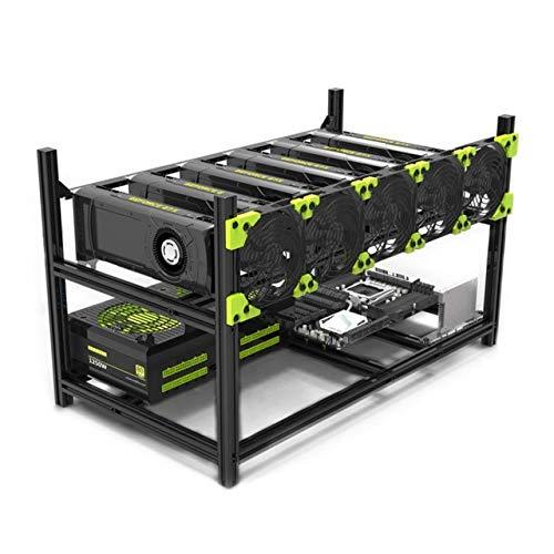SHA256 - Mining Rig Frame - Veddha V3C Stackable 6-GPU - Open Air Case (No Fans) - Crypto: Ethereum - Ethereum Classic - ZCash - Monero - Ravencoin - Beam