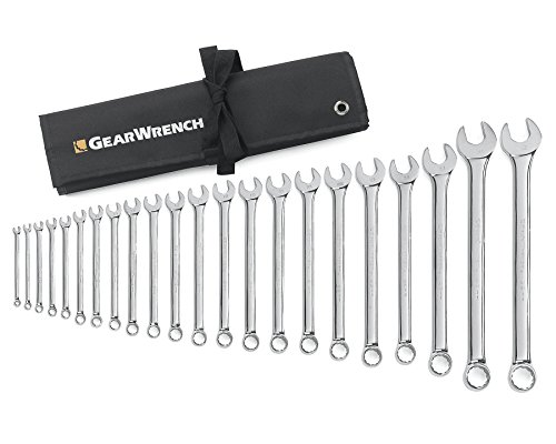 GEARWRENCH 22 Pc. 12 Pt. Combination Wrench Set, Long Pattern, Metric - 81916