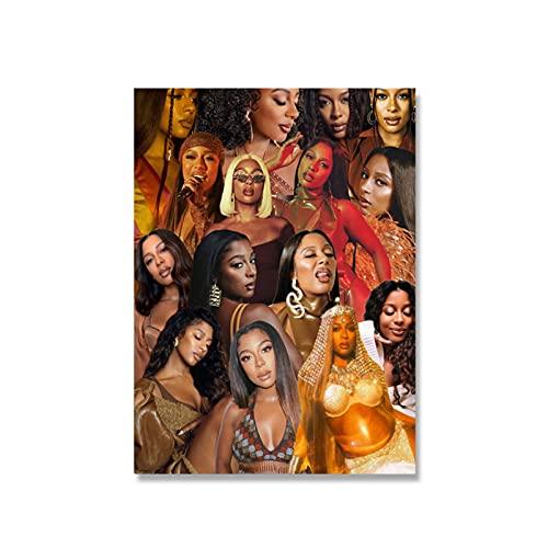 Tiiiytu Feministisk Väggkonst Kanvasmålning Vem Driver Världen Affischer Och Tryck Wall Picture For Woman Room Decor Presenter För Tjejer -50X70Cm Ingen Ram