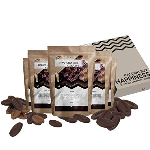 Schokolade Geschenkset 7 Schokolade aus aller Welt Geschenkbox | Weltreise Geschenkidee Schoko Geschenkset für Frauen Männer | Schokoladen Box Geburtstag Weihnachten