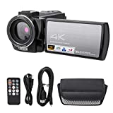 Gaeirt Cámara Digital 4K para Youtube, Videocámara 4k HD Cámara de Video 1080P 30MP con conexión WiFi Pantalla LCD TFT de 3,0', Lente Gran Angular, Zoom Digital 16 X, Enfoque automático(S)