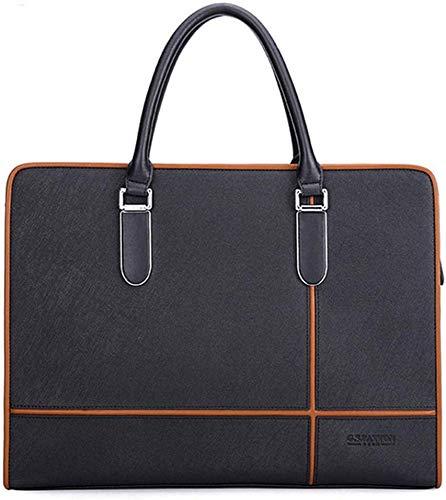 Elise lederen mannen tas zaak beweegbare tablet-aktetas schouder curier-zak-casual vintage stijl (kleur: zwart)