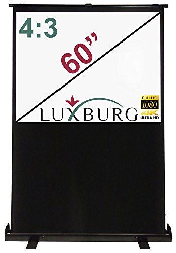Luxburg, Uk-Ps-Fl-12X09-Mw-01, Full HD 3D Schermo da Proiezione Portatile Manuale con Base D Appoggio, Dimensioni Schermo 60 Pollici