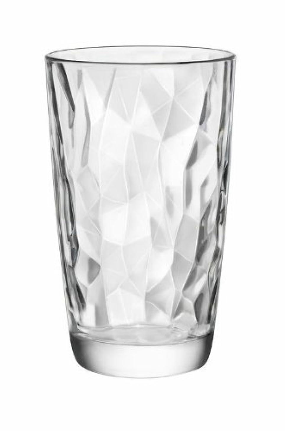 Bormioli Rocco Diamond Cooler Glasses, Clear, 16 oz, Set of 6