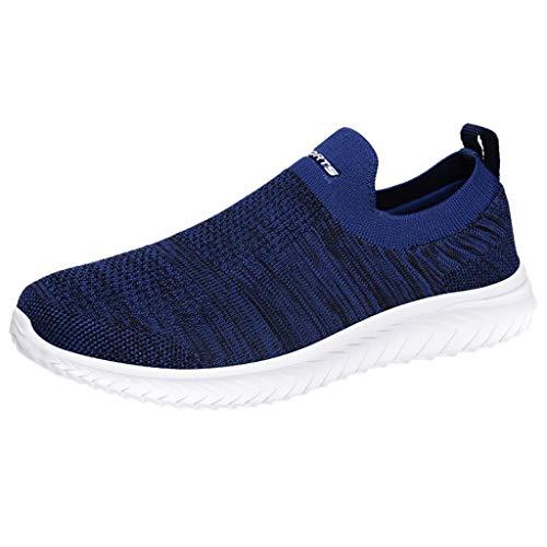 Briskorry Herren Sneaker Wohnungen Atmungsaktiv Sport Lässige Schuhe Leicht Gehen LaufenTurnschuhe Outdoorschuhe Freizeitschuhe Running Jogger Schuhe