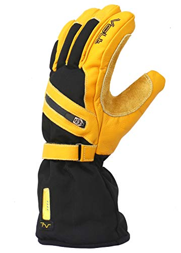 Volt Heated Work Gloves - Leather Work Gloves - Rechargeable battery heated gloves that will help keep your hands warm while you work in cold conditions.