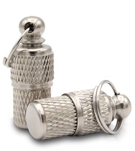 Aribari 2 x Adressanhänger geriffelt für Hunde und Katzen, Halsbandanhänger, Namensschild auch für kleine Tiere geeignet, Anhänger zur Tierkennzeichnung, aus Metall und wasserdicht