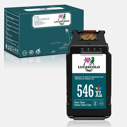 LUCASCOLO Cartucho de tinta remanufacturado para Canon CL-546 CL-546XL con Canon Pixma TS205 TS3150 TR4550 MG2550S MX495 TS3150 TR4550 IP2850 MG2450 MG2550 MG3051 (1 Tri-color)