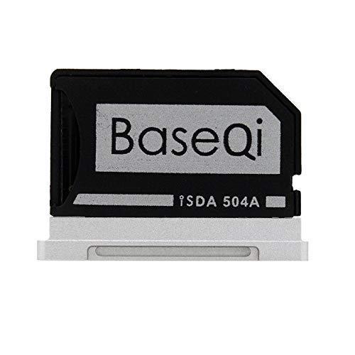 BaseQi Ninja Stealth Drive 504A Adattatore Micro SD Alluminio Argento Edge per MacBook PRO Retina/MBPR 15' (Late 2013)