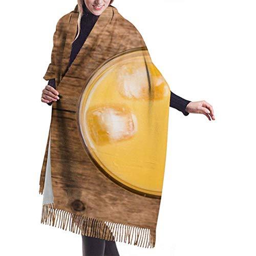 H.D. Womens Winter Scarf Cashmere Fühlen Sich Frisch An Orangensaft Glas Kumquat Auf Schals Stilvolle Schal Wraps Weiche Warme Decke Schals Für Frauen
