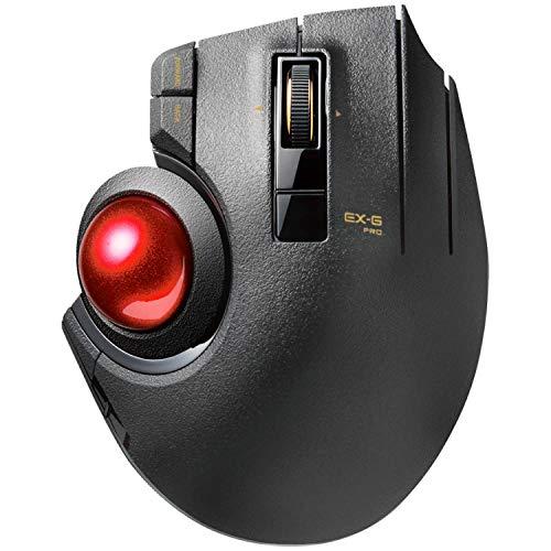 『エレコム マウス 有線/ワイヤレス/Bluetooth トラックボール親指 8ボタン チルト機能 ブラック M-XPT1MRXBK』の1枚目の画像