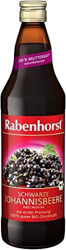 Rabenhorst Schwarze Johannisbeere BIO Muttersaft, Arteigen, säuerlich, 700 ml (6er Pack)
