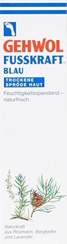 Gehwol Fusskraft® Blue pour peaux sèches et rugueuses Crème hydratante et naturelle pour les pieds Tube de 125 ml