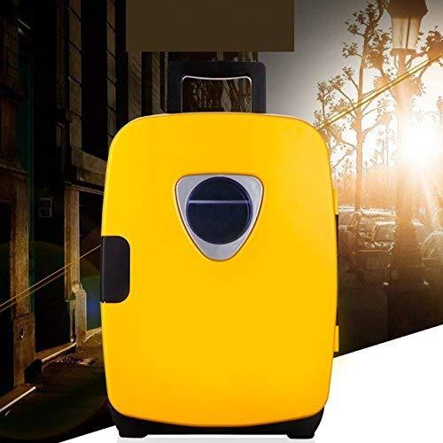Mini nevera, refrigerador de automóviles DUAL PEQUEÑO CASA PEQUEÑO MINI Compacto Refrigerador portátil y congelador para el hogar, oficina, coche o barco-amarillo 29x41x43cm (11x16x17inch) jianyou