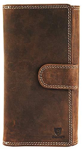 Pierrini PR0004 Damen Echtleder Portemonnaie Brieftasche Geldbeutel 3x9x18 Zentimeter