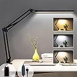Lampe de Bureau LED à Pince, Lampe de Lecture Architecte 14W, 3...