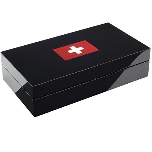BULLONGÈ Uhrenbox ELESWISS piano black für 8 Armbanduhren