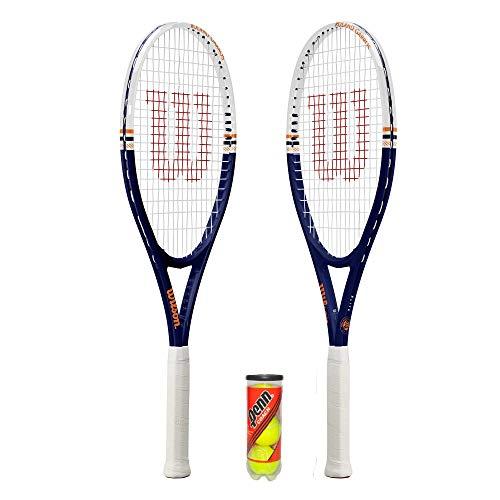 Wilson Roland Garros Elite Raqueta de Tenis + Pelotas (Varias Opciones) (2 x Rackets + Balls)