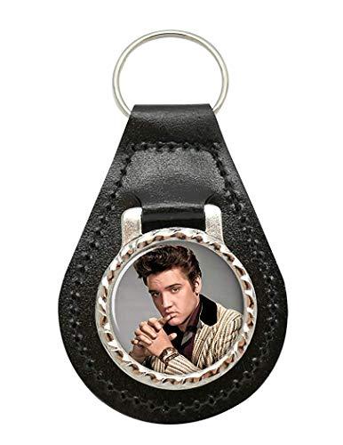 Giftshop UK Elvis Aaron Presley Leder Schlüsselanhänger