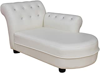 HFYAK Children s Sofa Mini Children  Chaise Lounge  Children s Sofa Seat Mini Children  nbsp Soft Furniture Kids Room Living Room Nursery-White Rice 83x45x40cm  33x18x16inch