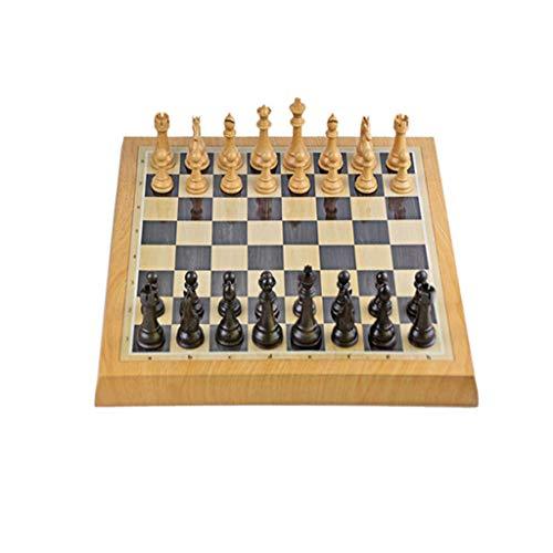 Juego de ajedrez magnético Mejorado, Juego de ajedrez de 18.4 x 18.4 con Piezas de ajedrez magnéticas Hechas a Mano, Juego de Tablero de ajedrez, Regalo, portátil, Adultos, niños, Juegos Trave
