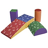 ECR4Kids SoftZone Climb and Crawl Activity Play Set, Lightweight Foam Shapes for Climbing, Crawling and Sliding, Safe Foam Playset for Toddlers and Preschoolers, 5-Piece Set, Hands and Feet
