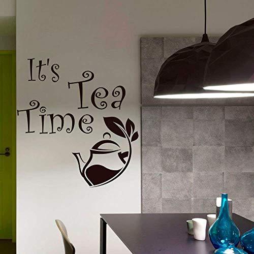 Wohnkultur Vinyl Innenwandaufkleber Küche Teekanne Moderne Kunst Design Wandaufkleber Entfernbare Vinyl Wandaufkleber Designer Wandaufkleber42X42Cm