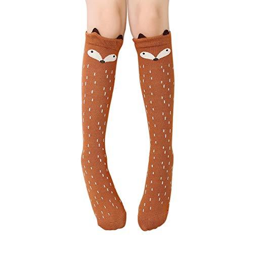 Blaward Baby Kinder Kniestrümpfe Niedlichen Tier Drucke Baumwolle Lange Socken für Mädchen 3-12Jahre