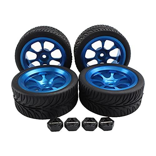 dailymall 4 Piezas de Neumáticos de Rueda de Metal para WLTOYS 144001 RC Rock Crawler
