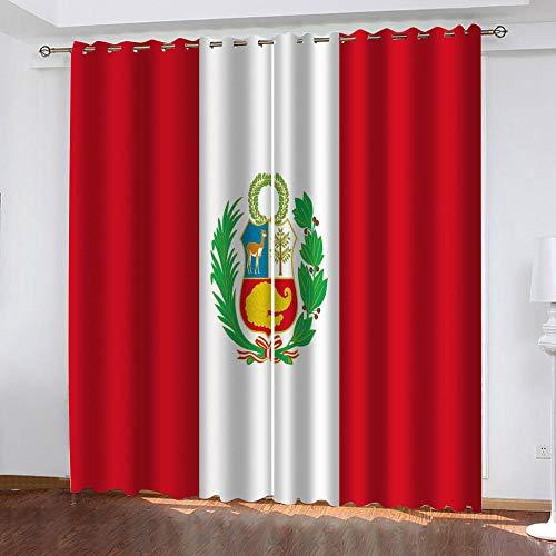 Bbaodan Kinder Gardine Blickdicht, 2 stück Vorhänge Blickdicht mit Ösen Thermo Vorhänge Fenster Schlafzimmer 2PanelsB168xH229cm Atmosphärisches Rot