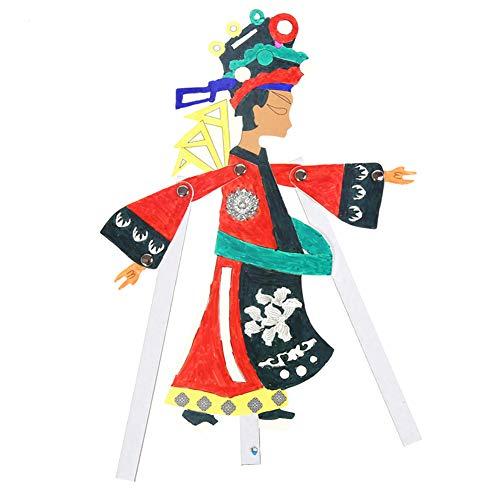 ZQQ Schattenspiel chinesisches traditionelles Kunsthandwerk Kindergarten Schattenspiel handgemacht kreativ,A