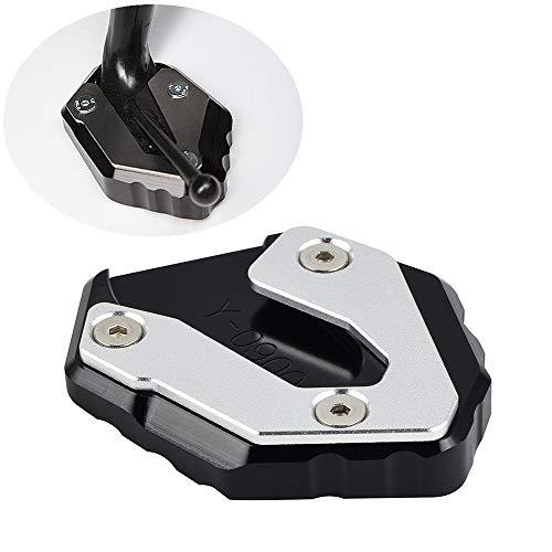H2Racing CNC Aluminium Motorrad Seitenständer Unterstützung Fuß-Verbreiterung Ständer Platte für Yam-aha MT-09 2013-2018,FZ-09 2013-2017,MT-09 Tracer