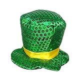 St Patrick Day Kit Verde Copricapo Irlandese  Paillettes Verde Adulti Top Hat Fermaglio per Capelli Bambini Uomo Accessori - St Patrick Day Costumi (B)