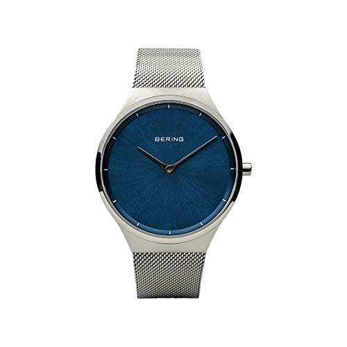 BERING Unisex Erwachsene Analog Quarz Uhr mit Edelstahl Armband 12138-008