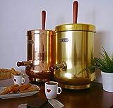 COSBIBCN CHOCOLATERA. para Mantener Caliente y Servir Leche, Agua, té, Chocolate, Vino,Caldo.Gran diseño, para Locales con Encanto. 1000W, 230VAC, Color Cobre, Capacidad 6L.